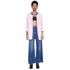 Zara Tweed Open Front Blazer in Pink